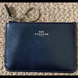 Coach cardholder with silver key ring